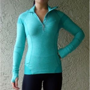 Lululemon Inspire Pullover in Heathered Teal Zeal